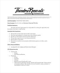 Room Attendant Job Description For Resume by Night Auditor Job Description Duties Sales Associate For Resume
