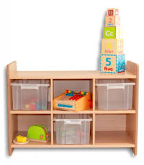 contemporary toy storage units with washable clear plastic tray
