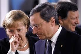 Draghi,Merkel e Barroso