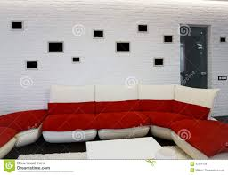 modern living room interior with red sofa stock photo image