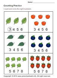 ideas collection free preschool math worksheets on worksheet
