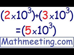 scientific notation adding and subtracting youtube