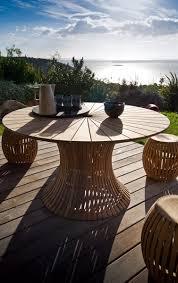 teck grade a beautiful table jardin teck unopiu images amazing house design