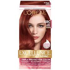 loreal hair color chart ginger amazon com l oreal paris excellence creme 6rc light cherry