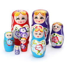 lovely russian nesting matryoshka 5 wooden doll set wooden