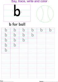 english small letter u0027b u0027 worksheet