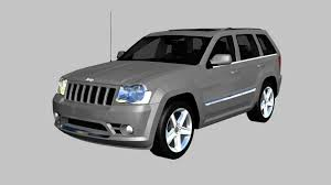 jeep laredo 2009 3d model jeep grand cherokee srt8 2009 cgtrader