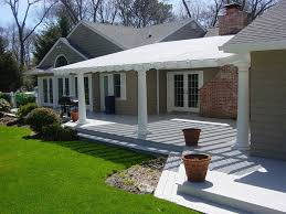 traditional porch with trellis u0026 fence in quogue ny zillow digs