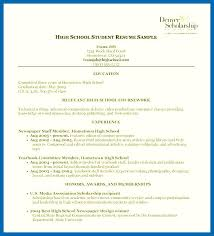 high school resumes resume template high school embersky me
