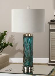 Glass Lamps Uttermost Almanzora Blue Glass Lamp 27087 1