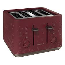 Morphy Richards 2 Slice Toaster Red Morphy Richards 248103 108103 Prism Kettle Four Slice Toaster