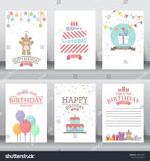 Official Invitation Card Happy Birthday Holiday Christmas Greeting Invitation Stock Vector