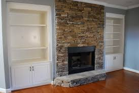 contemporary design living room with reface brick fireplace and
