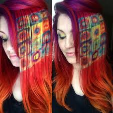 rainbow hair paintings inspired by famous art popsugar beauty