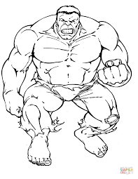 hulk coloring pages free coloring pages