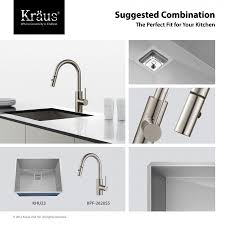 kraus kitchen faucets kpf 2620ss mateo single lever pull kitchen faucet in