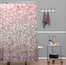 Coral And Grey Shower Curtain Coral Colored Shower Curtain Ideas Curtain Ideas