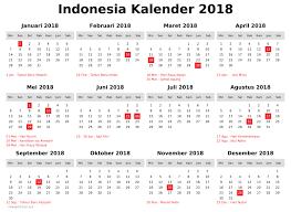 Kalender 2018 Hari Libur Unique 2018 Calendar Indonesia Print Calendar
