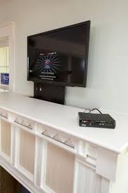 Best Way To Hide Wires From Wall Mounted Tv How To Build A Custom Tv Lift How Tos Diy