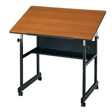 Height Adjustable Drafting Table Alvin Minimaster Adjustable Drafting Table Cherry Hayneedle