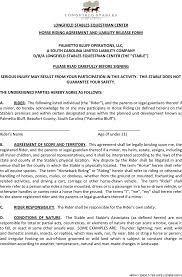 download south carolina horse riding agreement and liability