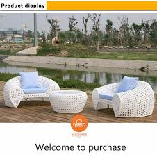 White Rattan Sofa China Factory Offer Reasonable Price White Rattan Wicker Garden