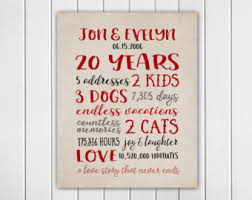 20 year anniversary gifts for him story anniversary gifts for him 20 year anniversary