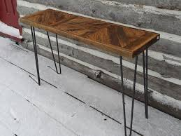 Hairpin Leg Console Table Tables Harvest Treasures