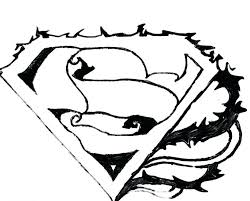 superman coloring pages pictures graphic emblem batman logo