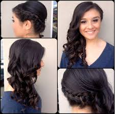 prom hairstyles side curls prom hairstyles side swept curls with braid