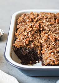 german chocolate snack cake with coconut pecan frosting recipe