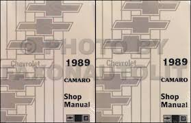 1989 chevy camaro repair shop manual original