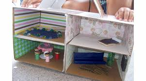Make Your Own Toy Chest by 13 Cardboard Dollhouse Plans Guide Patterns