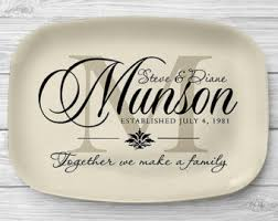 personalized ceramic platters personalized tray etsy