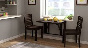 Blaine Capra  Seater Wall Mounted Dining Table Set Urban Ladder - Wall mounted dining table designs