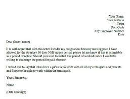 resignation letter writing a formal letter of resignation sample