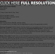 template investment banking cover letter mediafoxstudio com