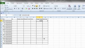 Simple Excel Spreadsheet Ebitus Sweet Time Sheet Template For Excel Timesheet Calculator