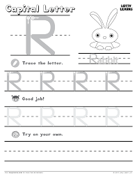 Letter Recognition Worksheets Capital Letter R Lotty Learns Abc Printables Uppercase