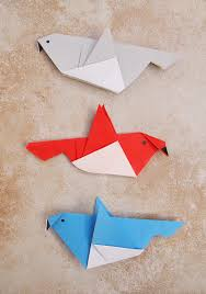 simple origami birds for kids or a grown up who needs a great