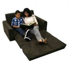Kids Flip Out Sofa Bed With Sleeping Bag Loveseat Fold Out Bed Foter