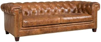Are Chesterfield Sofas Comfortable by Hooker Furniture Stationary Leather Chesterfield Sofa U0026 Reviews