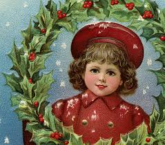victorian christmas clip art with wreath the graphics fairy