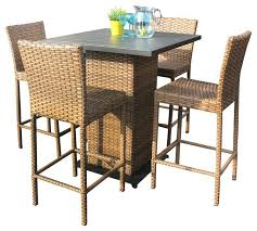 Outdoor Patio Furniture Bar Height Bar Stool Outdoor White Plastic Bar Stools And Table Outdoor Bar