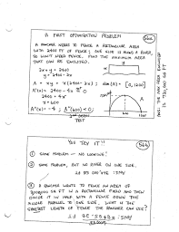 Calculus Optimization Word Problems Worksheet Topics In Calculus Mat 131 Daily Syllabus