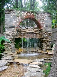 lawn u0026 garden fantastic backyard waterfall for landscaping decor