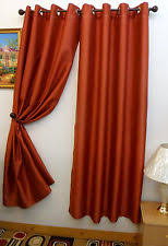 Grommet Curtains 63 Length Rust Curtains Ebay