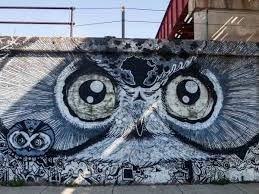 a neighborhood guide to discovering chicago street art note the collaborative effort with the owl on top and the graphical images added below this was the last piece created by brooks golden before his death