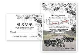 wedding invitations and response cards motorcycle bike wedding invitations response cards