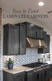 Re Laminating Kitchen Cabinets Painting Laminate Cabinets With No Prep Work Repurpose And
